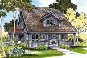 House Plan 69277 | Bungalow Country Craftsman Traditional Style Plan with 1788 Sq Ft, 3 Bedrooms, 2.5 Bathrooms, 2 Car Garage Elevation