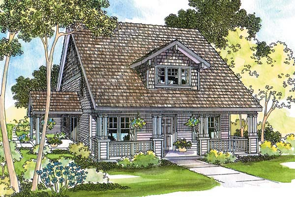 Bungalow Country Craftsman Traditional House Plan 69277 Elevation