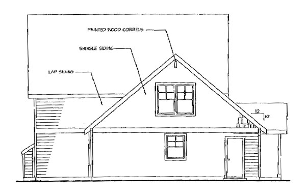 Bungalow Country Craftsman Traditional House Plan 69277 Rear Elevation