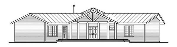 Craftsman House Plan 69278 Rear Elevation