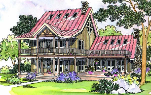 Coastal Country House Plan 69280 Elevation