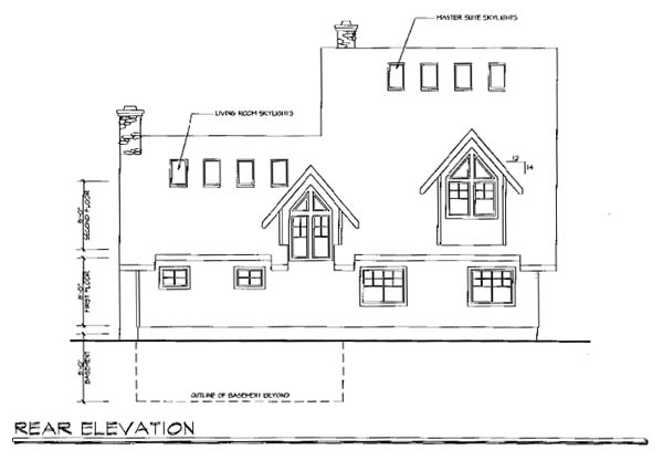 Coastal Country House Plan 69280 Rear Elevation