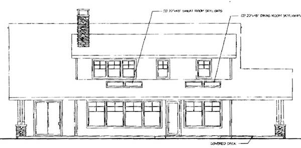 Country House Plan 69282 Rear Elevation