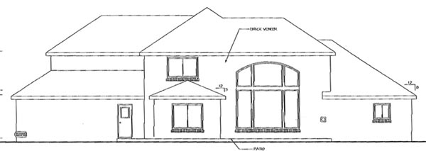 Traditional House Plan 69283 Rear Elevation