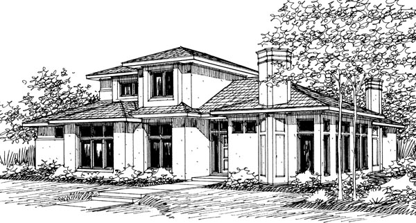 Contemporary House Plan 69285 Elevation