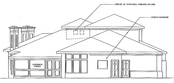 Contemporary House Plan 69285 Rear Elevation