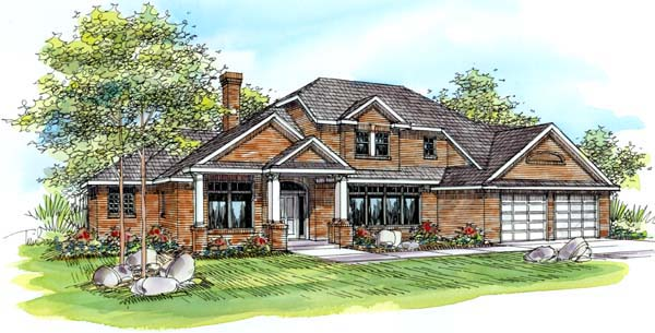 Traditional House Plan 69286 Elevation