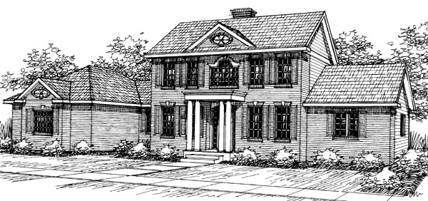 Colonial House Plan 69287 Elevation