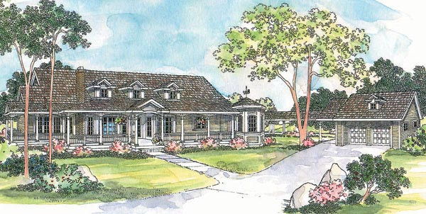 Country House Plan 69288 Elevation