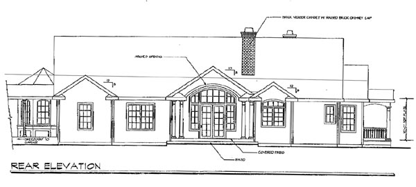 Country House Plan 69288 Rear Elevation