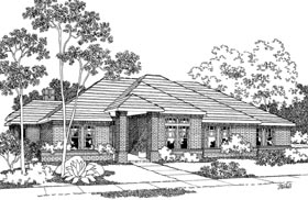 Contemporary Traditional House Plan 69289 Elevation