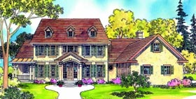 Colonial Country House Plan 69291 Elevation