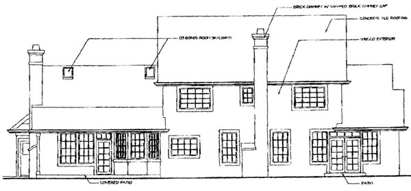 Colonial Country House Plan 69291 Rear Elevation