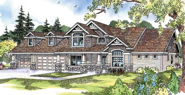Contemporary Country Craftsman House Plan 69293 Elevation