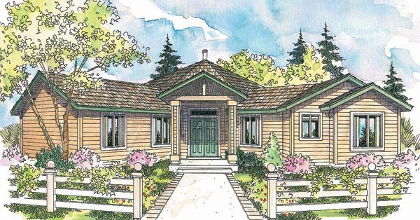 Ranch Traditional House Plan 69294 Elevation