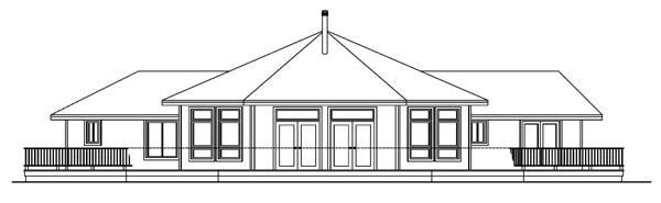 Ranch Traditional House Plan 69294 Rear Elevation