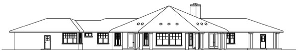 Craftsman House Plan 69295 Rear Elevation