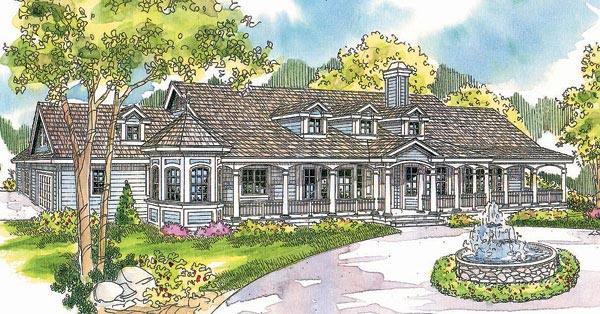 Country Florida Ranch House Plan 69296 Elevation