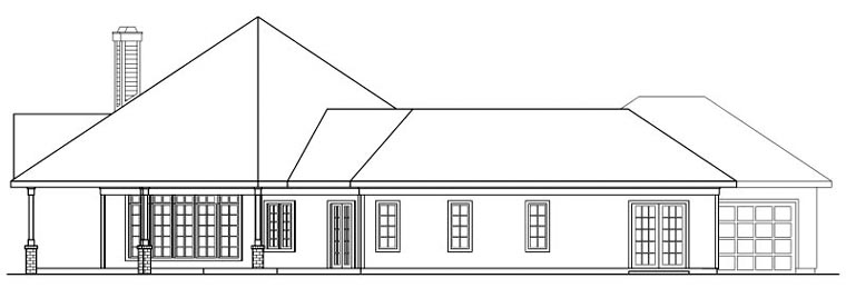 Traditional House Plan 69298 with 3 Beds, 2.5 Baths, 3 Car Garage Picture 1