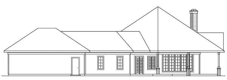 Traditional House Plan 69298 with 3 Beds, 2.5 Baths, 3 Car Garage Picture 2