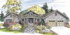 House Plan 69301 | Craftsman Style Plan with 2635 Sq Ft, 3 Bedrooms, 2 Bathrooms, 2 Car Garage Elevation