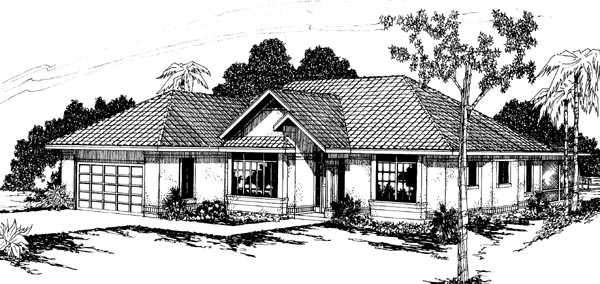 Contemporary Florida House Plan 69303 Elevation