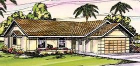 Florida Mediterranean Ranch Southwest House Plan 69304 Elevation