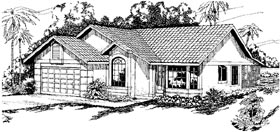Florida Ranch House Plan 69305 Elevation