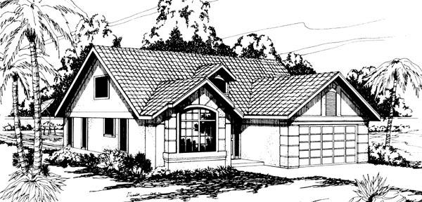 Florida Mediterranean Ranch House Plan 69306 Elevation