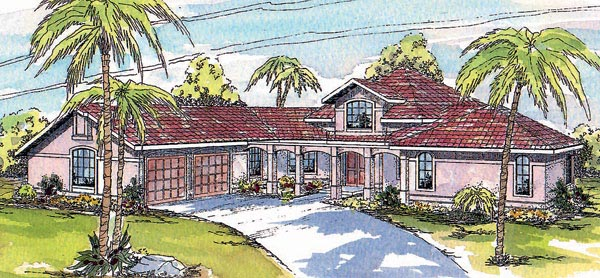Mediterranean Ranch Southwest House Plan 69307 Elevation