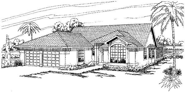 Mediterranean House Plan 69312 Elevation