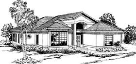 Contemporary Mediterranean House Plan 69313 Elevation