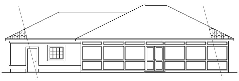 Contemporary Mediterranean House Plan 69313 Rear Elevation