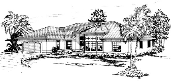 Mediterranean House Plan 69314 Elevation