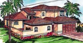 Florida Mediterranean House Plan 69315 Elevation