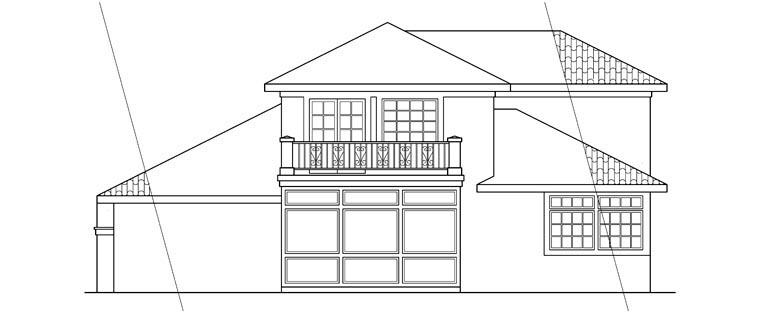 Mediterranean House Plan 69320 Rear Elevation