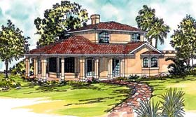 Contemporary Prairie Style Southwest House Plan 69321 Elevation