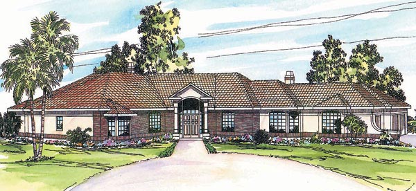 Ranch Southwest House Plan 69323 Elevation
