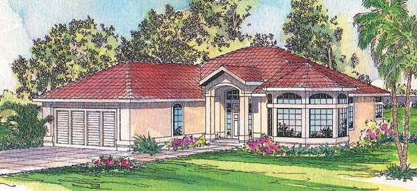 Florida House Plan 69328 Elevation
