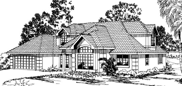 Florida Traditional House Plan 69329 Elevation