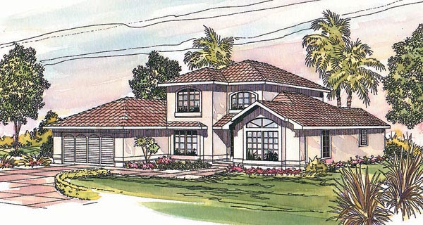 Mediterranean Southwest House Plan 69331 Elevation