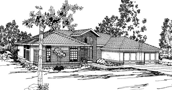 Southwest House Plan 69336 Elevation