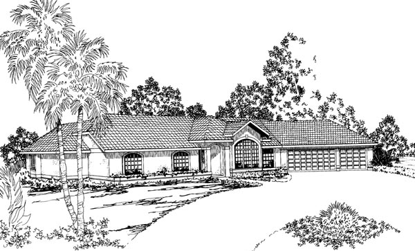 Ranch House Plan 69337 Elevation