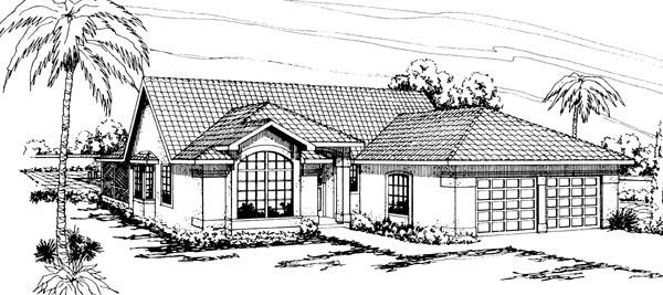 Florida Ranch House Plan 69340 Elevation
