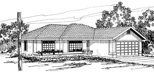 Florida Ranch House Plan 69342 Elevation