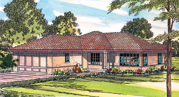 Ranch Southwest House Plan 69346 Elevation