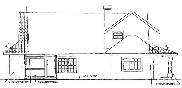Mediterranean House Plan 69348 Rear Elevation
