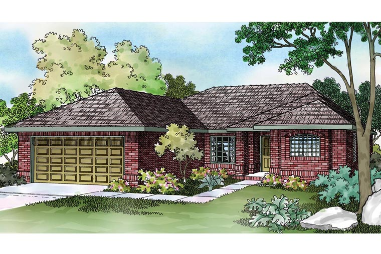 Ranch House Plan 69349 Elevation