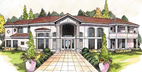Contemporary Florida Mediterranean Southwest House Plan 69350 Elevation