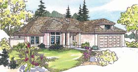 House Plan 69351 | Southwest Traditional Style Plan with 2210 Sq Ft, 3 Bedrooms, 2 Bathrooms, 2 Car Garage Elevation